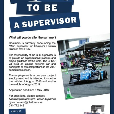 Want to work as CFS17 supervisor?